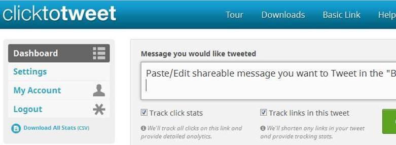ClickToTweet screenshot