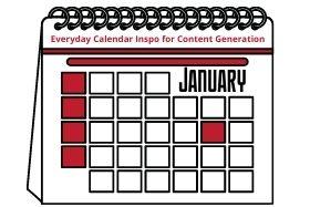 Every Day Calendar Inspo for JANUARY
